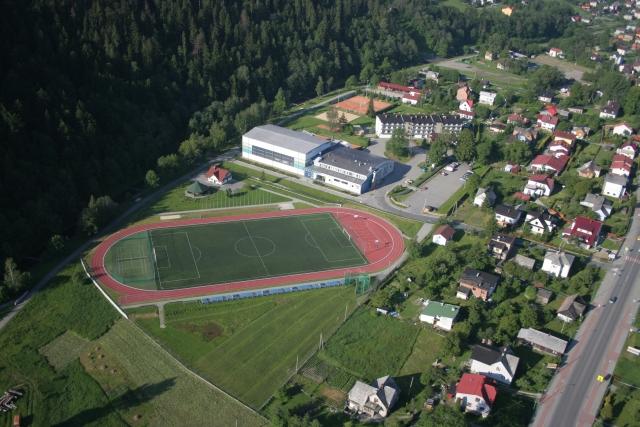 Centralny Ośrodek Sportu w Szczyrku - widok z lotu ptaka